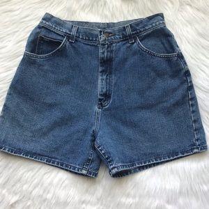 Vintage 90s Lee high waisted mom denim short
